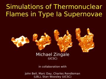 Simulations of Thermonuclear Flames in Type Ia Supernovae