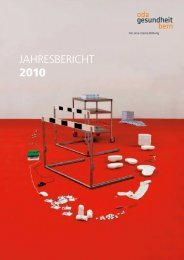 JAHRESBERICHT 2010 - OdA Gesundheit Bern