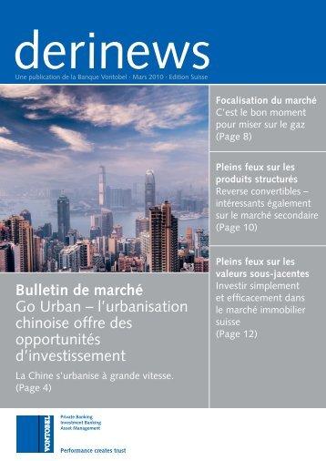 Bulletin de marché Go Urban – l'urbanisation chinoise offre des ...