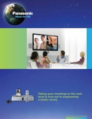 HD Visual Communications System - Panasonic