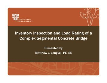 Inventory Inspection and Load Rating of a Complex Segmental ...