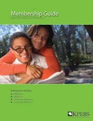 KPERS Membership Guide - City of Lawrence, KS