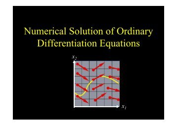 Numerical Solution of Ordinary Differentiation Equations