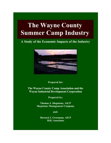 The Wayne County Summer Camp Industry - Shepstone ...