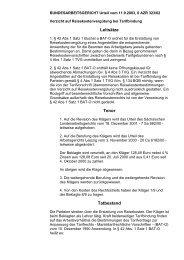 Bundesarbeitsgericht Urteil: Reisekostenerstattung bei Klassenfahrten