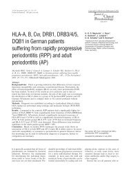 HLA-A, B, Cw, DRB1, DRB3/4/5 - Zahnärztliches Praxiszentrum in ...