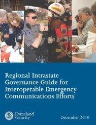 Regional Intrastate Governance Guide for Interoperable ... - SafeCom