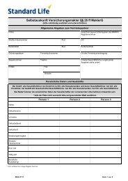 Selbstauskunft Versicherungsmakler §§ 26 ff MaklerG - Standard Life