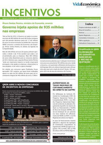 Governo injeta apoios de 935 milhões nas empresas - Newsletter ...