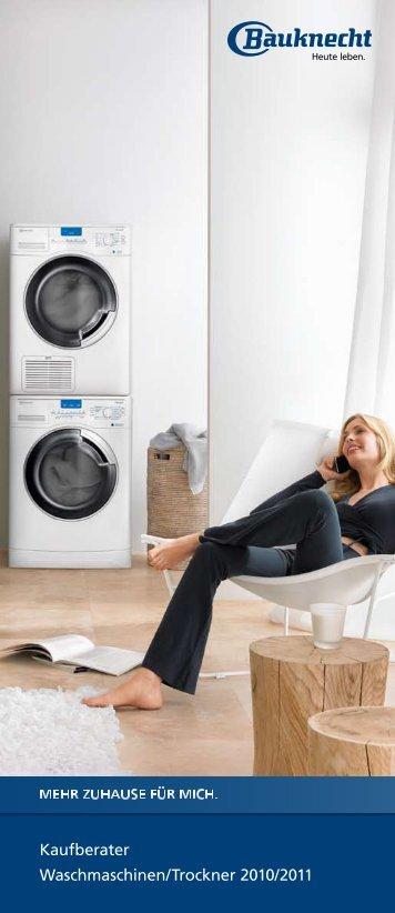 Kaufberater Waschmaschinen/trockner 2010/2011 - Bauknecht
