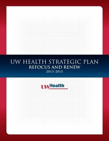 ONE STRATEGIC PLAN 2010-2014 - UW Health