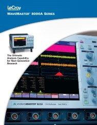 WaveMaster 8000A Datasheet - TRS-RenTelco