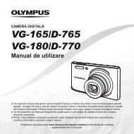 Manual de utilizare VG-165/D-765 VG-180/D-770 - Olympus