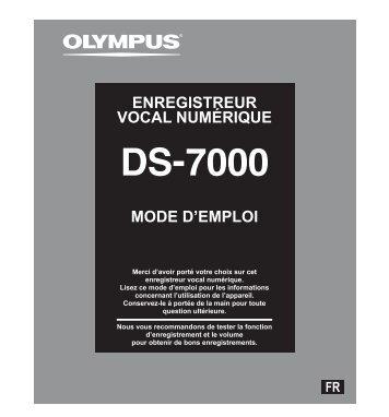 MODE D'EMPLOI ENREGISTREUR VOCAL NUMÉRIQUE - Olympus