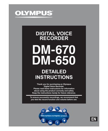DETAILED INSTRUCTIONS DIGITAL VOICE RECORDER - Olympus