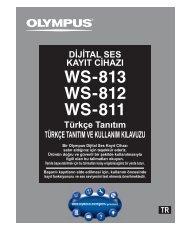 Türkçe Tanıtım TÜRKÇE TANITIM VE KULLANIM ... - Olympus