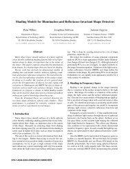 Shading Models for Illumination and Reflectance Invariant Shape ...