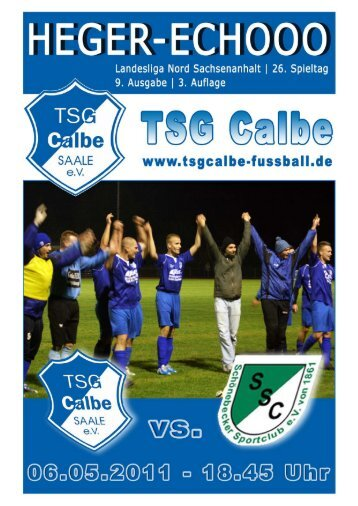 TSG/SSC - TSG Calbe/Saale