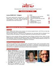 Newsletter Nr. 3 / 2007 - SWISS NLP