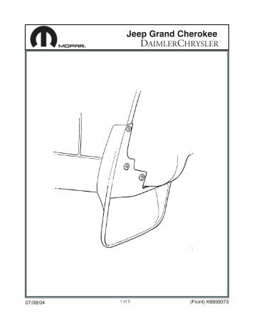 Jeep Liberty Rear Air Deflector Installation Instructions Jeep World