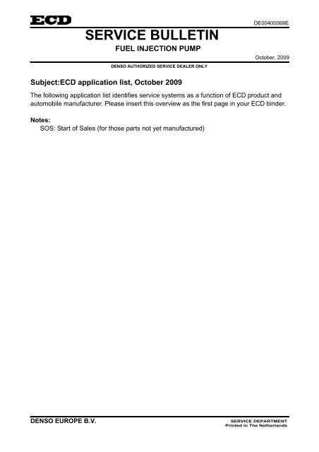 Service Bulletin Omniged Com
