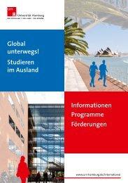 Studieren im Ausland Informationen Programme Förderungen