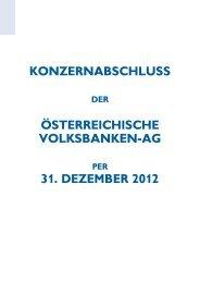 KONZERNABSCHLUSS ÖSTERREICHISCHE ... - Volksbank AG