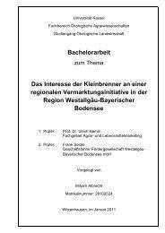 Bachelorarbeit Das Interesse der Kleinbrenner an einer regionalen ...