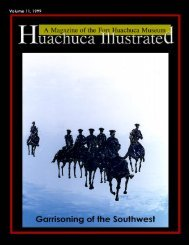 Garrisoning the Southwest - Fort Huachuca - U.S. Army