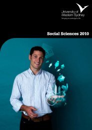 Social Sciences 2010 - University of Western Sydney