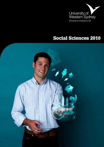 Social Sciences 2010 - University of Western Sydney