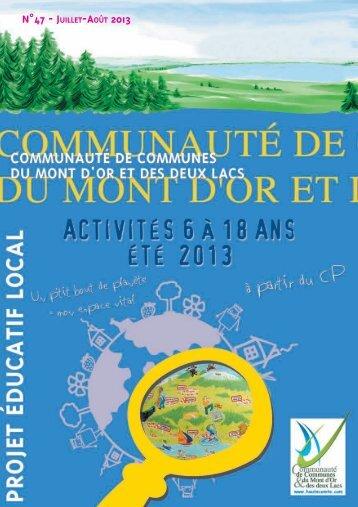 n°47 - juillet-août 2013 - Communauté de Communes du Mont d'Or ...