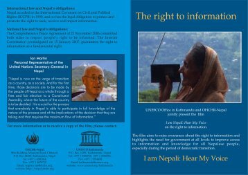 The right to information - Office of United Nations high ...
