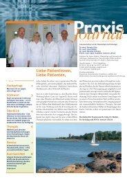 Ausgabe 13 / 2008 - Schwerpunktpraxis für Hämatologie und ...