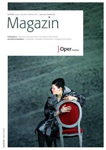 Opernmagazin September / Oktober 2012 - Oper Frankfurt