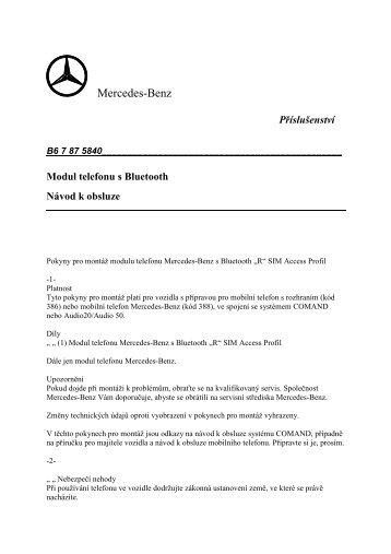 Modul telefonu s Bluetooth_A2 048 20 0535.pdf - Mercedes-Benz