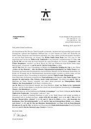 Pressemitteilung Thalia Theater Mai 2013
