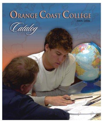Course Catalog 2005-2006 - Orange Coast College