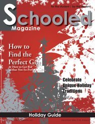 For The Student - Schooled Magazine