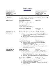 Resume - Eastern Illinois University