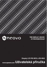 2 - AG Neovo Service Website