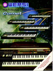 1982 Wersi Comet.pdf - The Organ Forum