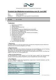 Protokoll der Mitgliederversammlung vom 25. Juni 2007 - Swiss NLP