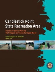 Candlestick Point State Recreation Area Preliminary General Plan ...