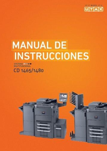inStruccioneS manual de - Utax