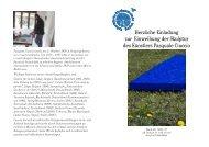 Einladung Schenkung Skulptur - Matthias Merki
