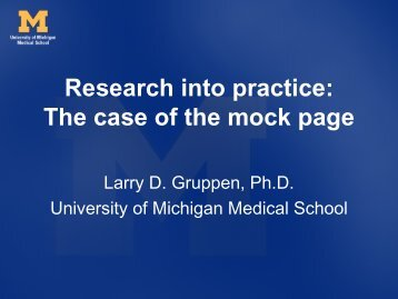 Research Into Practice: The case of the mock page [pdf]