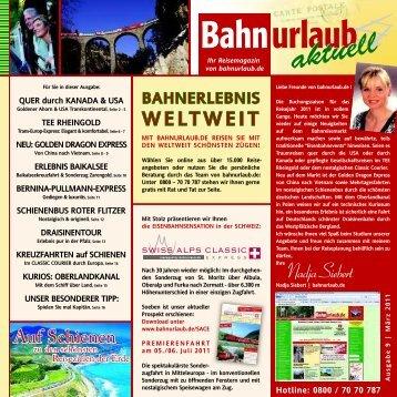 ab 3.980 - Bahnurlaub