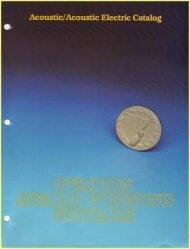 1980 Catalog - Ovation Tribute