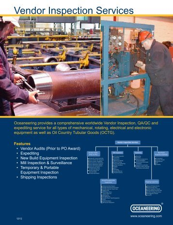 Vendor Inspection Services - Oceaneering